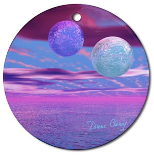 Love Birds Round Ornament