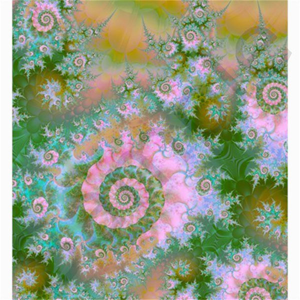 Rose Forest Green, Abstract Swirl Dance Shower Curtain