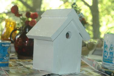 White Birdhouse