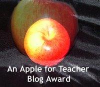 An Apple for Teacher Blog Award