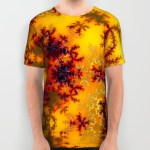 Golden Sun Gate, Abstract Fractal Asian Illusion All Over Print Shirt