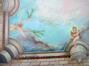 Plafondschilderingen van Diane Meyboom: Detail van De Stolp engelen - plafondschildering voor een Stolp poppenhuis