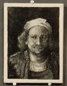 Bijzondere miniaturen: Expositie Slot Zeist van Diane Meyboom - De Portretjes van Rembrandt -4