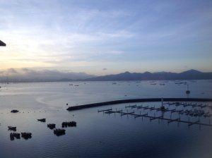 Beautiful sunset over China Sea