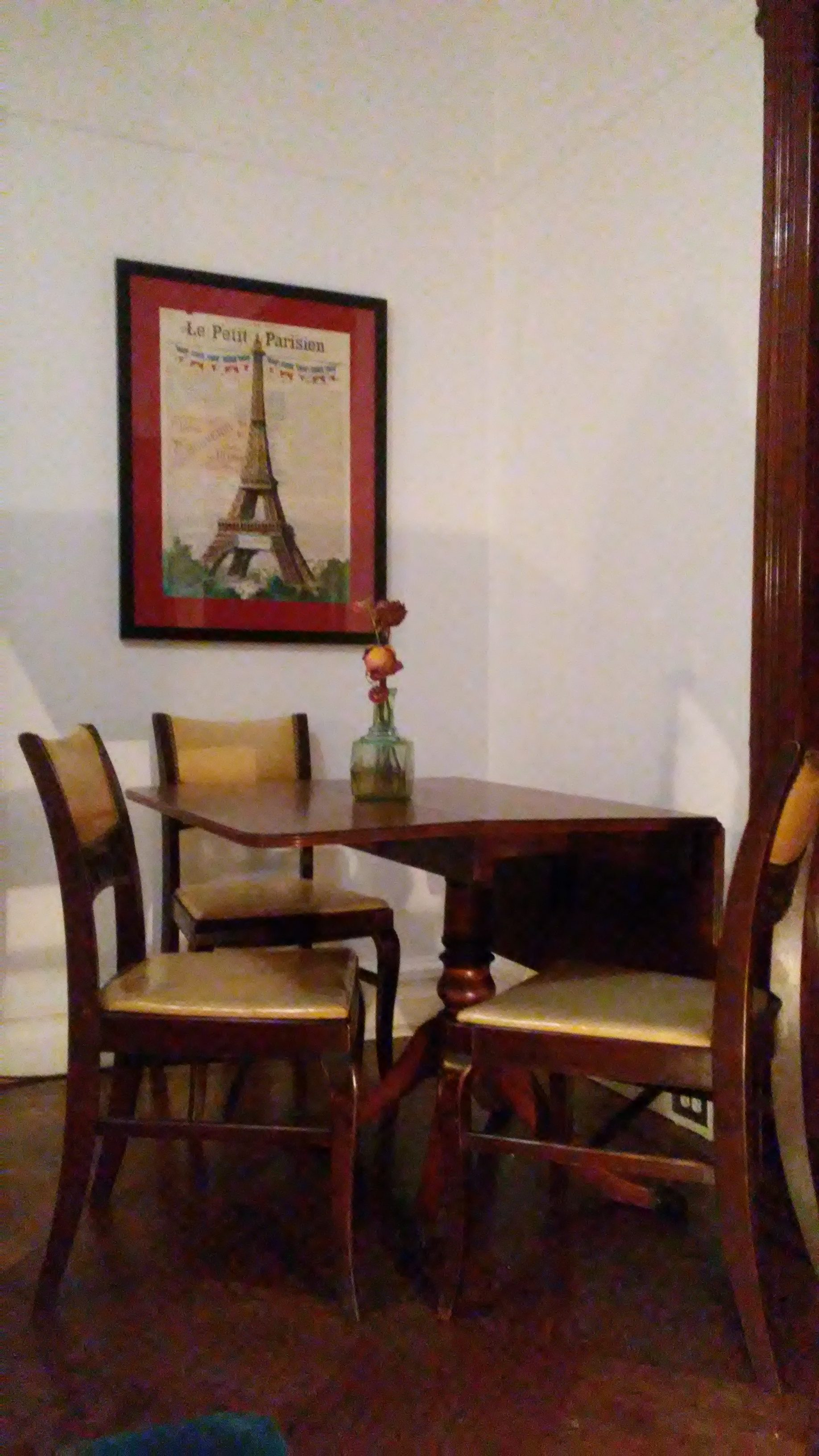Old table and chairs set