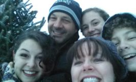 Holiday Tips: image of our family at Christmas tree farm.