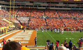 Life and Love Lessons from The Outback Bowl. Image of the 2016 Outback Bowl football field.