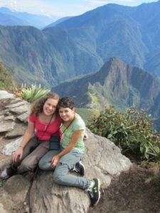 Empty Nest 102: Image of two teenaged girls at the top of Machu Picchu.
