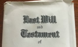 How to settle an estate: image of a Last Will and Testamen