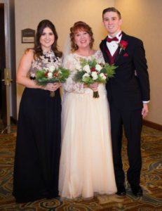 Love, Look at the 2 of us: Image of bride with daughter and son.