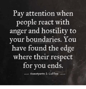 Boundaries 101: Meme describing anger as a reaction to boundaries.
