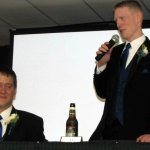 Best Man giving a toast