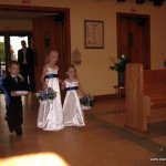 Ring bearer and Flower Girls entering the ceremony