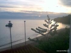 Jamaican sunrise, looking northeast from balcony