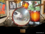Drum set in the Hard Rock cafe used by Rush on tour (Hi, Mason!)
