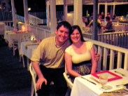 Aaron and Diane at the Bayside restaurant