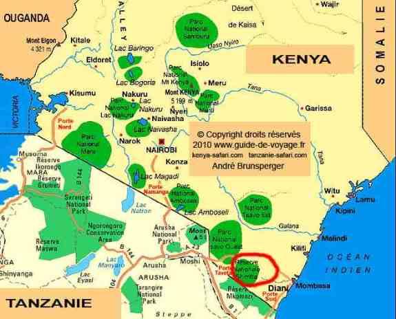 Carte - Excursion et mini safari Shimba Hills