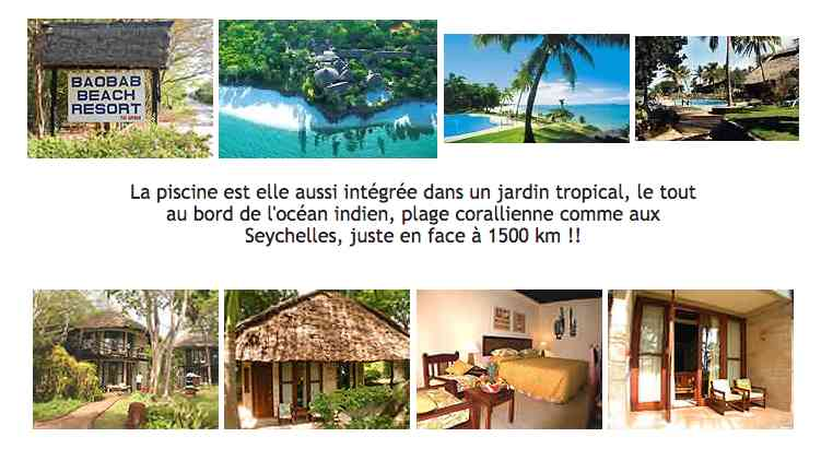 Diani hôtel 4 étoiles plus Baobab Diani Beach