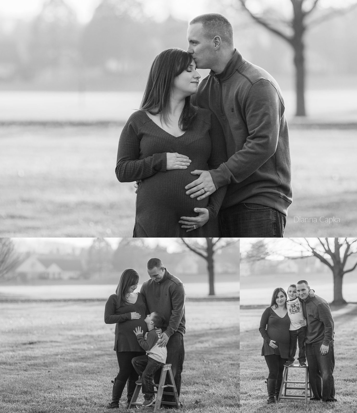 December maternity family photo session at The Highlands of Wyomissing