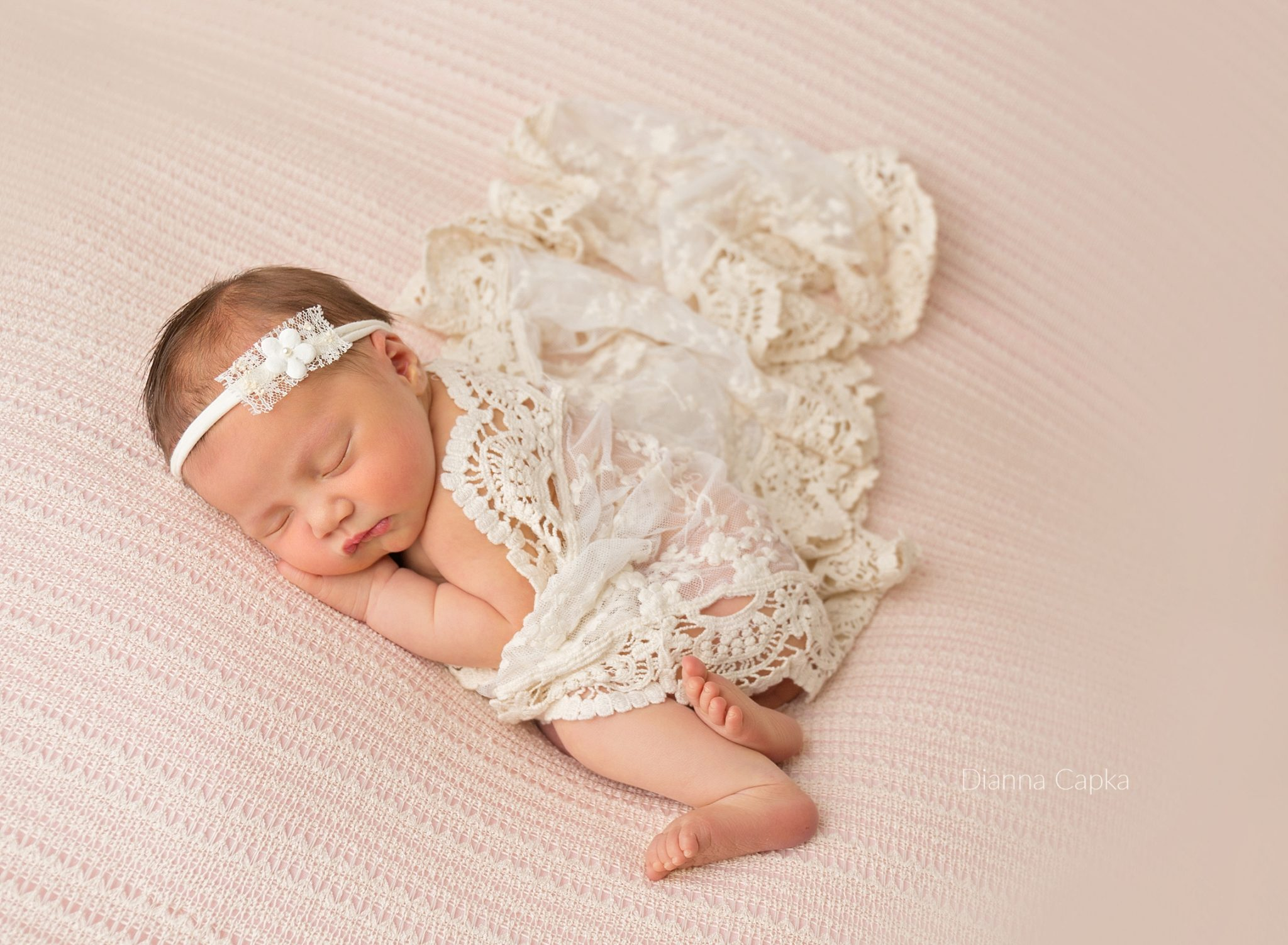 Lancaster pa baby photographer beautiful girl with lace wrap
