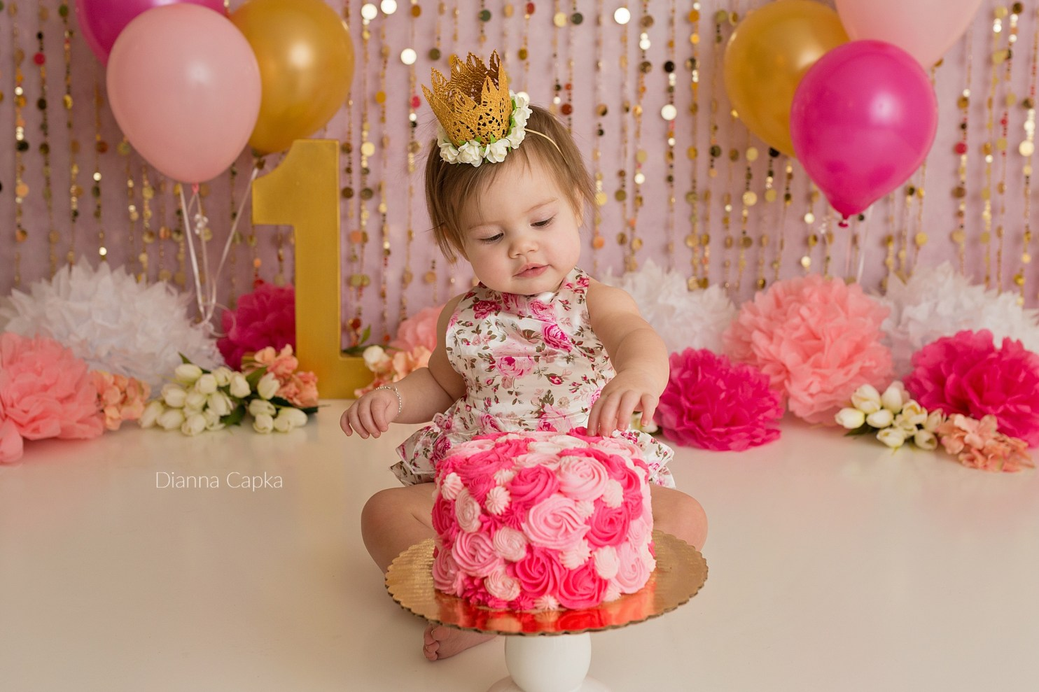 Henley is One lancaster cake smash one year photographer