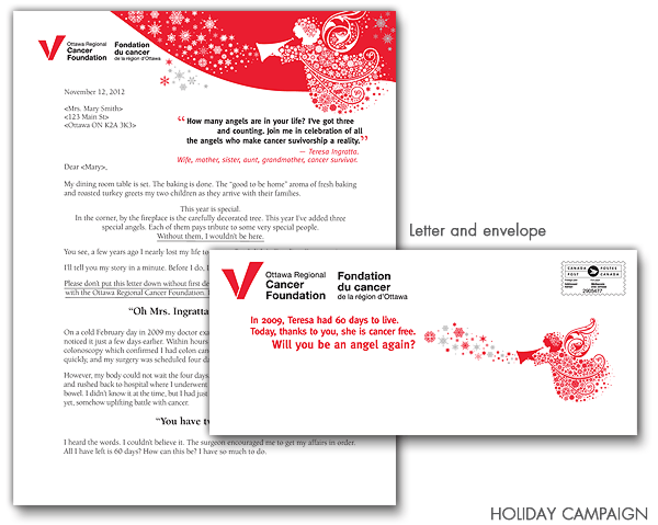 Direct mail campaign for the Ottawa Regional Cancer Foundation
