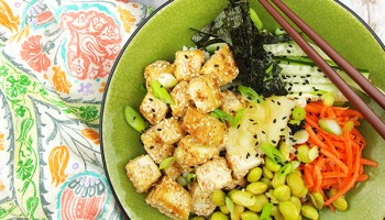 Bbq hawaiian tofu bowl from the simply vegan cookbook diannes vegan sushi bowl from the veginners cookbook forumfinder Image collections