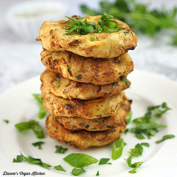 Stack of Vegan Colcannon Cakes
