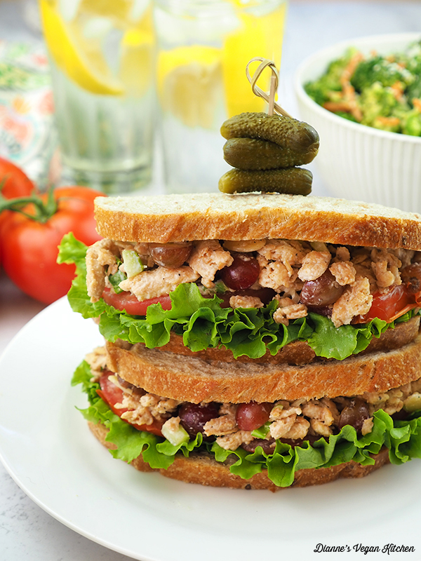 double stack of sandwiches