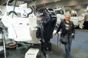 Dianne at Melbourne Boat Show 2015 - Murray River Source to Sea