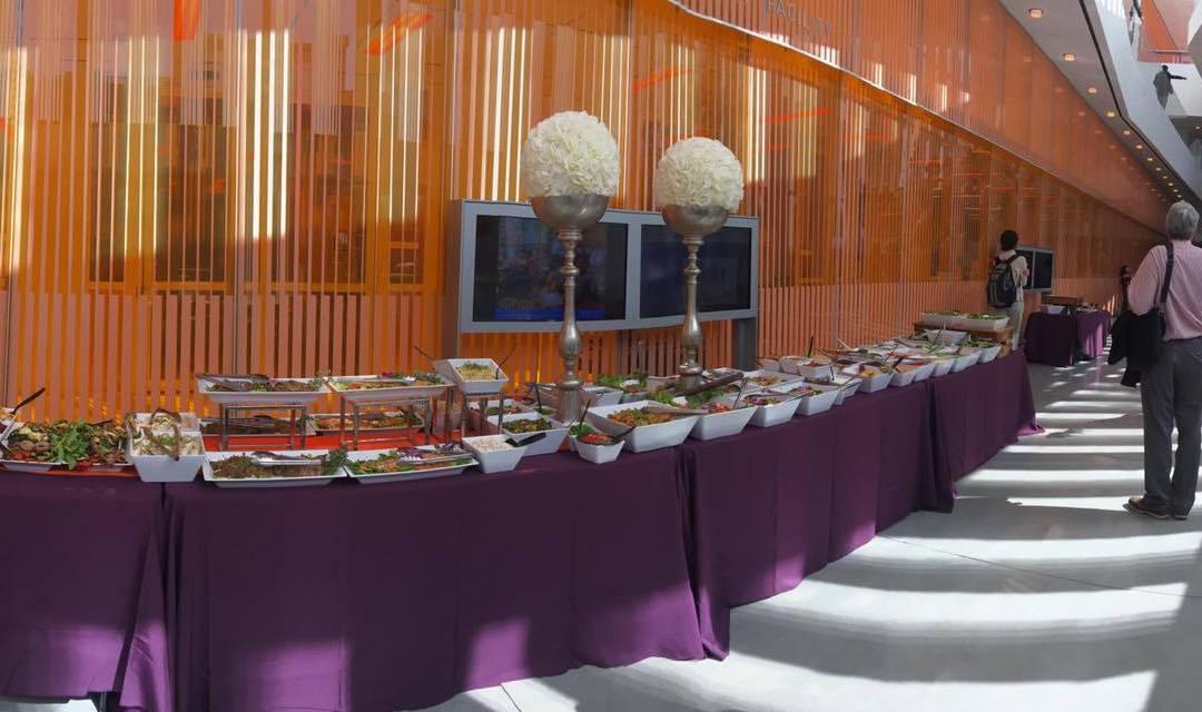 Catering a Gourmet Wedding Reception Buffet