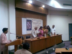 Sandeep Pandey's book 'Towards a Nuclear Free World' being launched in New Delhi on July 12 2013