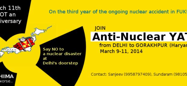 Anti-Nulcear Yatra March 11