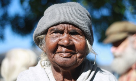 Milwayi elder and traditional owner Bunny Nabarula, who gave evidence about her clan's ownership of the Muckaty Station land. Photograph: Neda Vanovac/AAP
