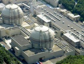 An aerial view shows Kansai Electric Power Co's Ohi nuclear power plant's No. 4 reactor (front) in Ohi, Fukui prefecture, in this photo taken by Kyodo July 19, 2012. Credit: Reuters/Kyodo