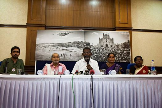 Koodankulam press conference New Delhi on july 7, 2014 - S P Udayakumar, Mildred, Chitranjan Singh and Kumar Sundaram
