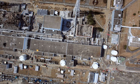 An aerial view of damage to the Fukushima nuclear power plant after an earthquake and tsunami knocked out the cooling systems in March 2011. Photograph: HO/AFP/Getty Images