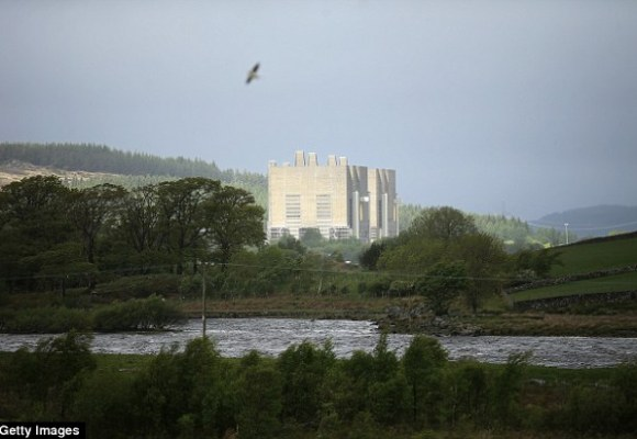 Women under the age of 60, who live downwind from the Trawsfynydd nuclear power station in North Wales (pictured) are at five times greater risk of developing breast cancer, experts have warned.