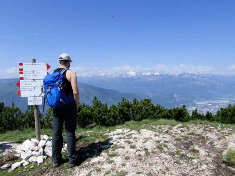 panorama da cima Marzola