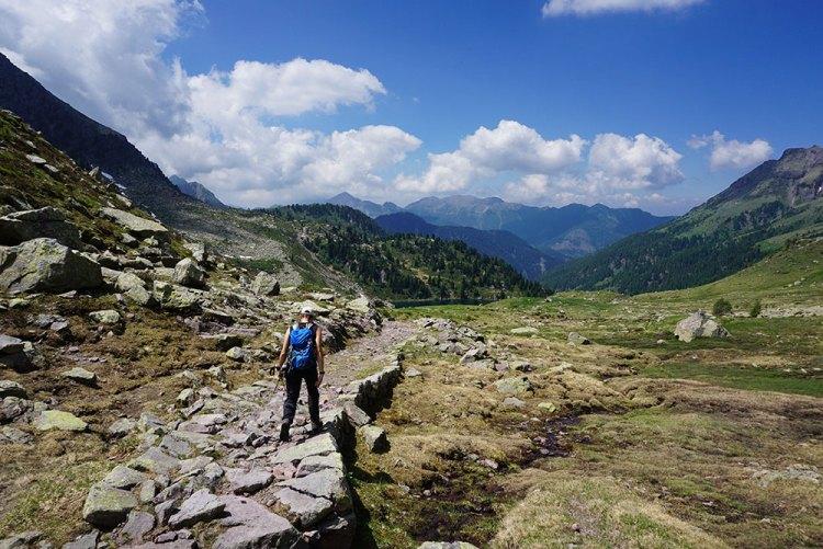 sentiero per il lago delle Stellune
