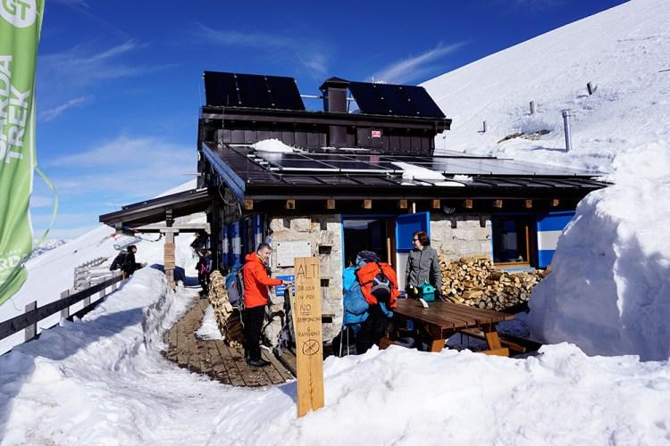 Escursione al rifugio Marchetti in Inverno