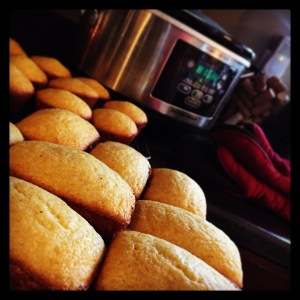 sweet corn bread cooling while the chili is cooking