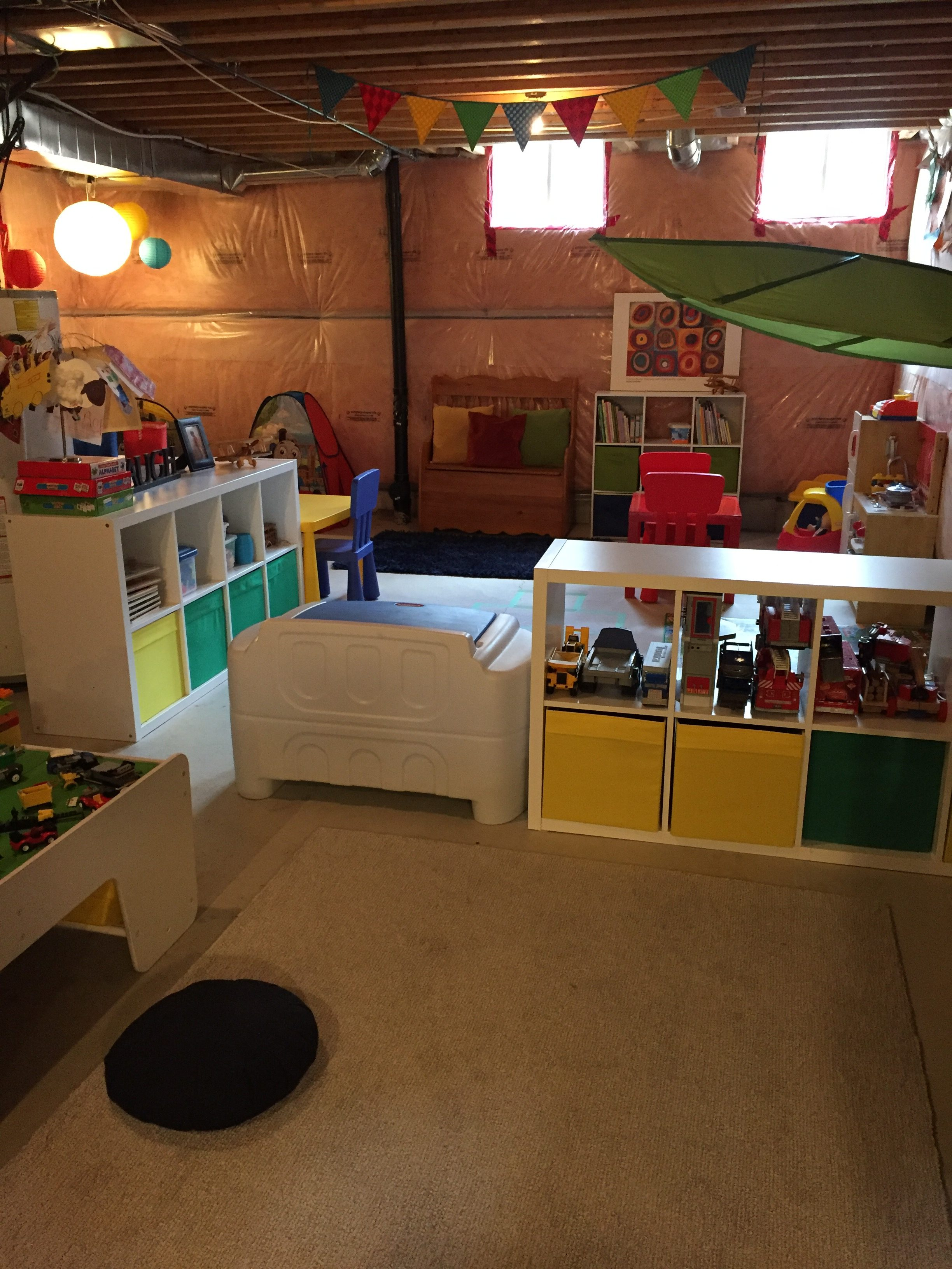 How To Transform Your Unfinished Basement Into A Playroom Diaries Of An A Type