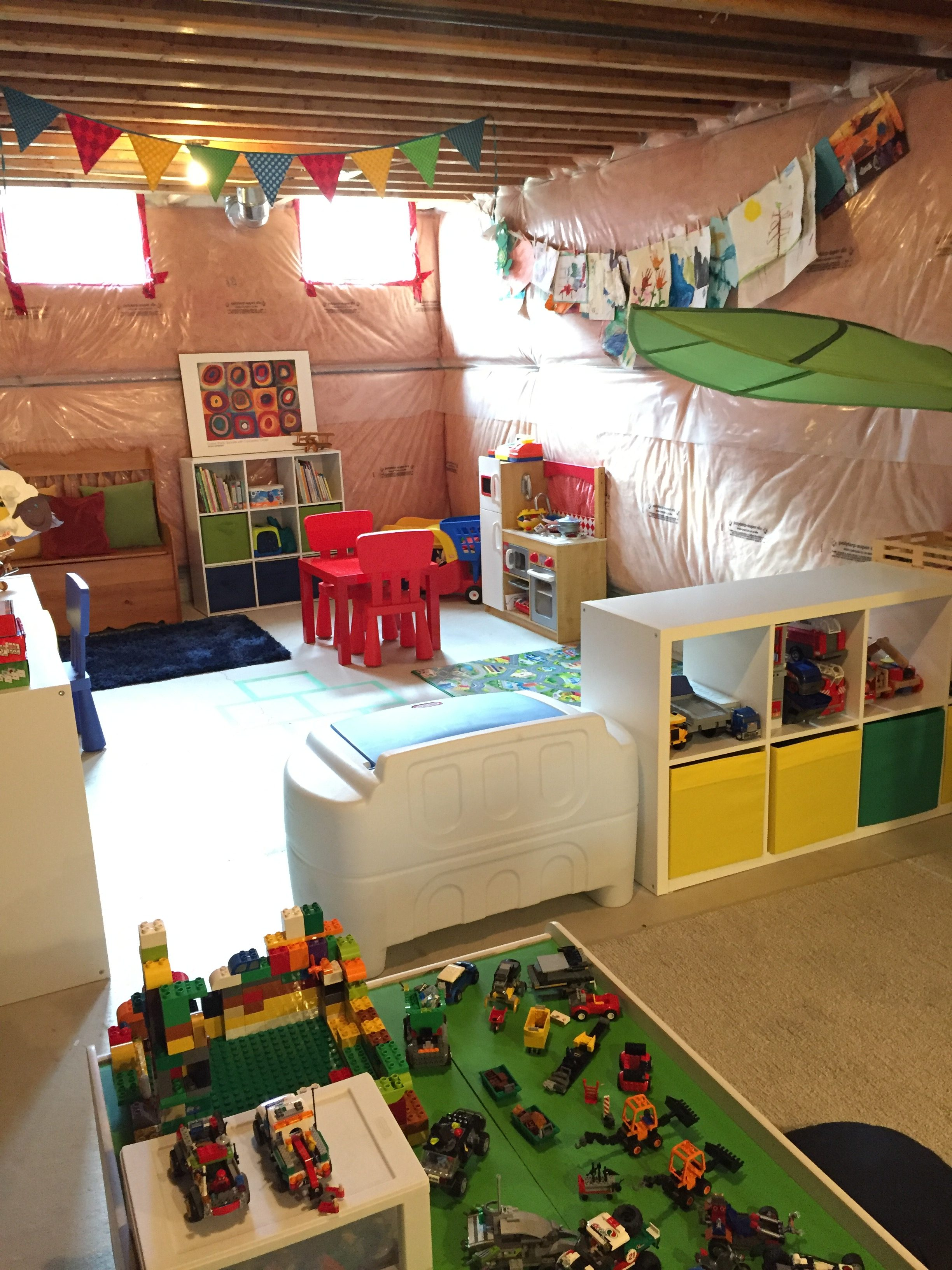How To Transform Your Unfinished Basement Into A Playroom