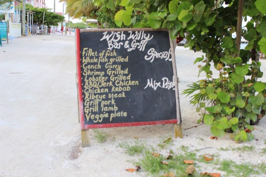 Wish Willy Caye Caulker Belize