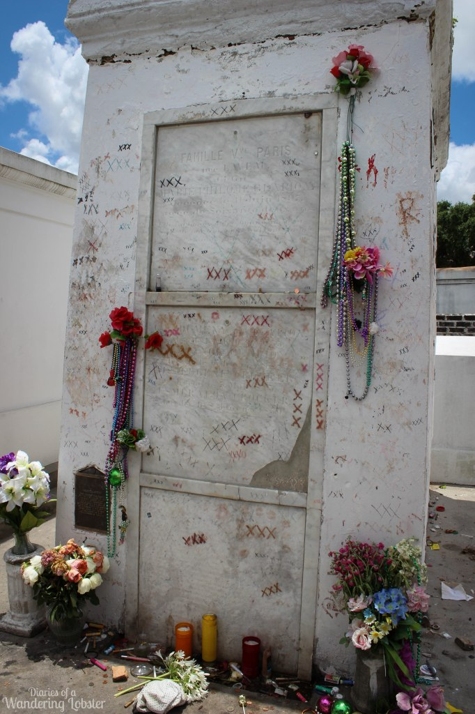 Marie Laveau, the Voodoo Priestess, tomb in the cemetery