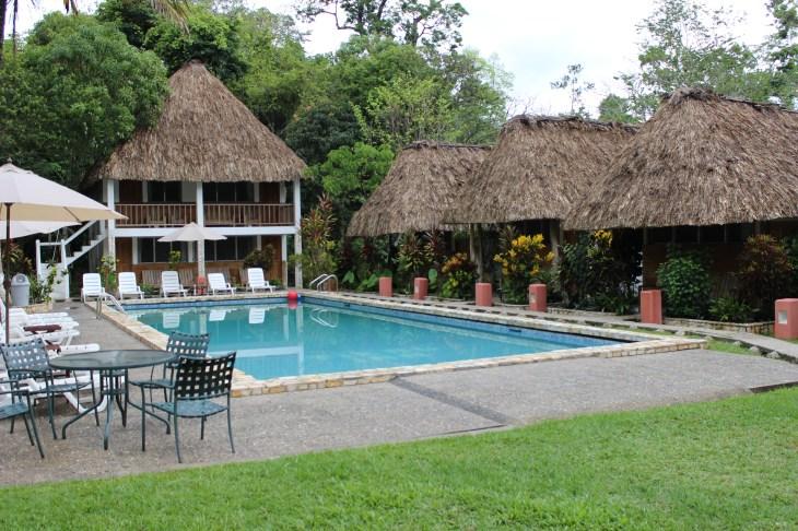 The pool at Tikal Inn