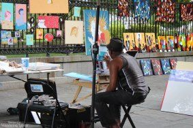 A painter at work