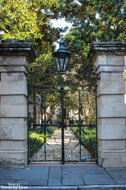 Charleston iron sword gate