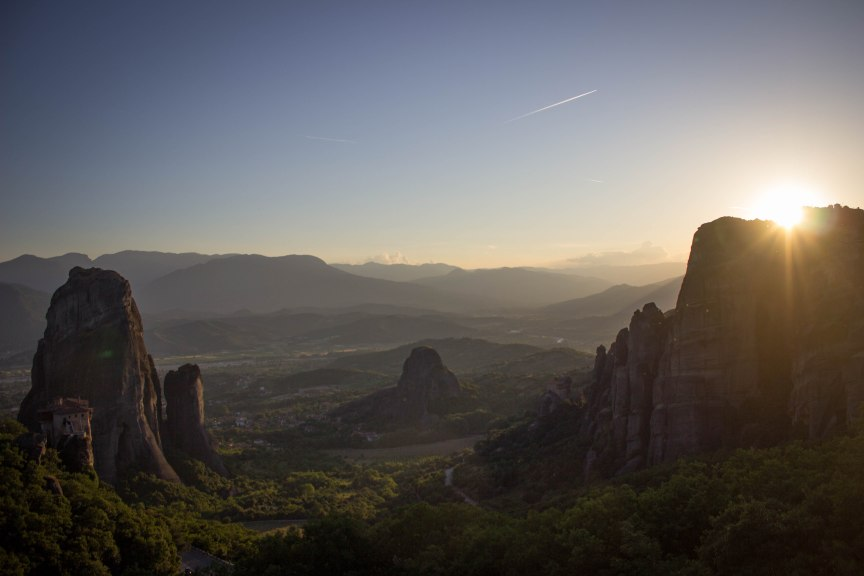 Meteora Greece golden hour
